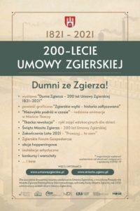 Program ramowy obchodów 200. rocznicy podpisania Umowy Zgierskiej