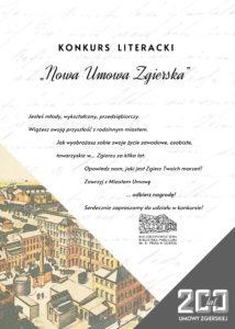 """Konkurs literacki """"Nowa Umowa Zgierska"""""""