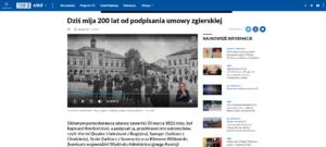 Media o Umowie Zgierskiej i naszej rocznicy – TVP 3 Łódź